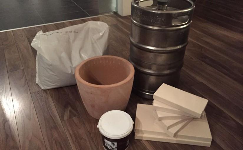 Bau eines Tandur-Ofen aus einem Bierfass