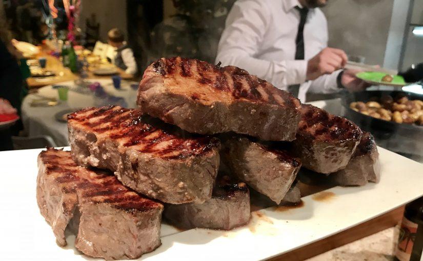 Sylvester-Rumpsteak vom argentinischen Rind, sous-vide gegart und auf der NEFF-Grillplatte gegrillt