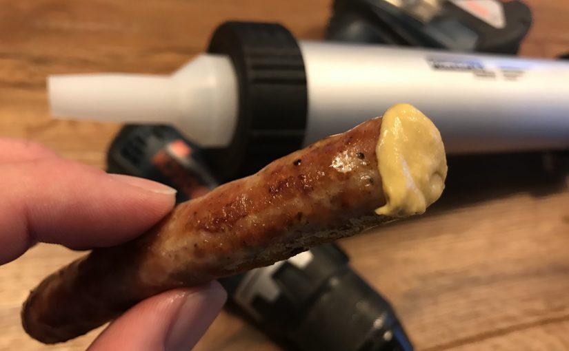 """""""DIY-Heimwerker-Bratwurst"""" aus der Silikonspritze"""