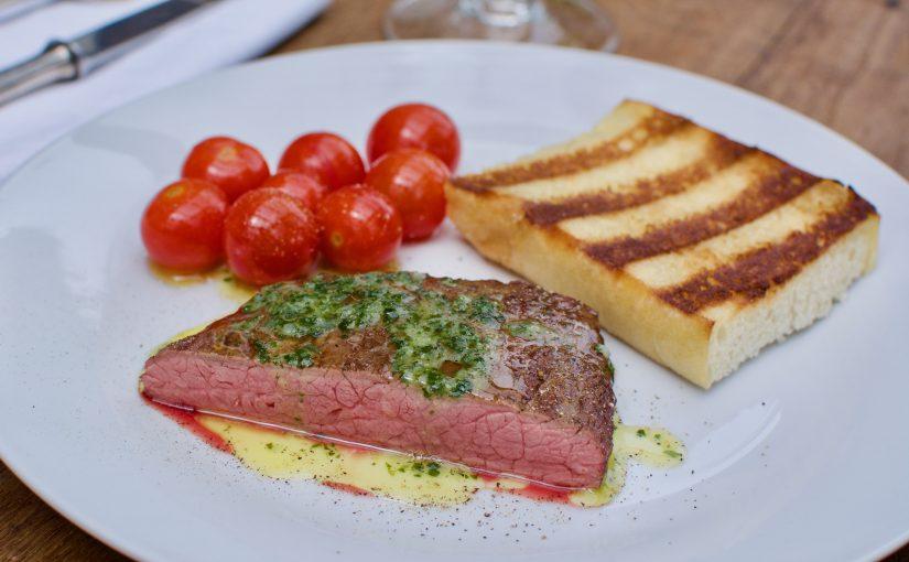 """trocken gereiftes Flank-Steak vom """"Wurst-Basar"""""""
